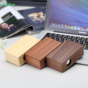 Creative Wood Induction Speaker Free Sound Amplifier Wooden Wireless Speaker Portable Stereo Speaker Wooden Magic Induction DHL