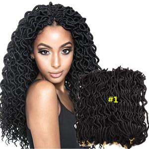 Hot Sale 24 Strands Pcs Faux Locs Curly Crochet Braids Soft Locks Goddess Locs Hair Extensions Synthetic Crochet Braids Hair