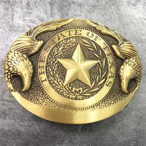 1 Pcs Os Estados Do Texas Fivela de Cinto De Fivela de Bronze Para O Cinto De Couro Homem Ceinture Homme Fivela Cowboy Ocidental
