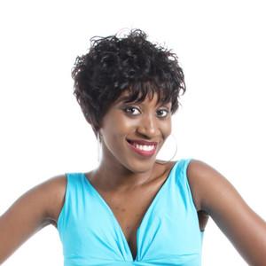 Pelucas rizadas cortas de cabello humano para mujeres negras barato encaje completo brasileño pixie corte indio pelo humano 100% pelucas de pelo humano nuevas pelucas