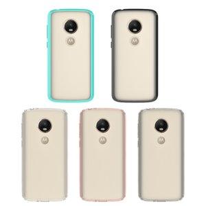cas de téléphone clair transparent pour Motorla E5 jeu G6, plus x4 z2 jouent moto x c5 100% acrylique TPU robuste Effacer Gel Phone Case