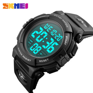 SKMEI Sports Watches Mens Outdoor Fashion Digital Watch Multifunction Waterproof Electronic Digital Wristwatches Man Relogio Masculino 1258