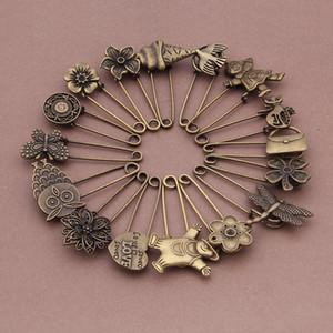 Vintage Rose Flower Charm Brooch Pin Base ajustes en blanco para la joyería de DIY que hace hallazgos broche de la vendimia pin