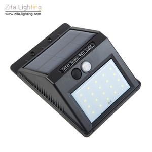 Zita Illuminazione A LED Solare Lampada Da Parete Per Esterni 20LED Sensore di movimento di illuminazione di emergenza Giardino Pathway lampade Corridoio Portico Pannello Solare Spotlight