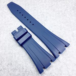 26mm / 18mm Blue luxe haute qualité Soft Silicone / Bracelet en caoutchouc pour AP AudemarsPiguet Royal Oak