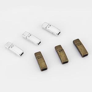 10 세트 골동품 실버 / 청동 강한 자석 Clasps 5mm 플랫 가죽 쥬얼리 결과 Findings에 대 한