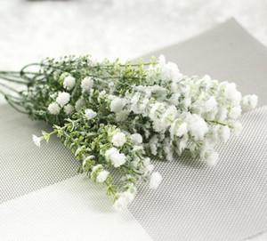 5 무리 인공 Gypsophila 아기의 호흡 가짜 실크 꽃 식물 홈 웨딩 파티 테이블 중앙 장식품 장식