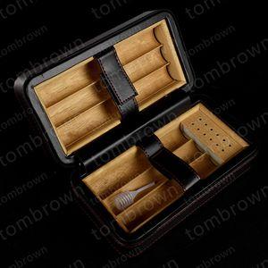Высококачественная белая коробка с короткими сигарами Humidor Cedar wood Lined Cigarette humidor Портативные переносные пакеты для путешествий Новая кожа