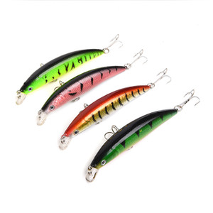 New Shallow Diving Artificial Fish Universal River Freshwater Fishing baits 11cm 11g 3D Wobbler Laser lure hooks