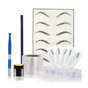 Microblading Set de Manuel Pen Needles Sourcils Pâte Pro Sourcils Tattoo pour le maquillage permanent tatouage Kits Sourcils