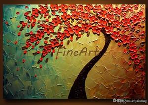 Handgemaltes abstraktes Palettenmesser-schweres Beschaffenheitsbaumölmalereikünste Ölgemälde-Galerie-Segeltuchmalerei-Schlafzimmerkunst-Naturmalerei