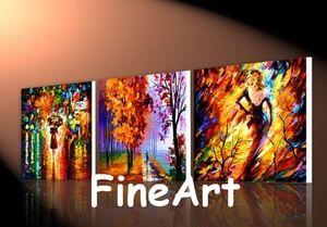 Bonne qualité à la main 3 pièce peinture Leonid Afremov couteau peinture à l'huile moderne toile mur art décoration