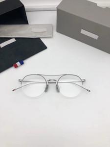 Nuovi occhiali Cornice Blocco per grafici per occhiali per lenti trasparenti Ripristino antico modi Oculos de Grau Uomini e donne Myopia Eye Glass Brames Tb01 con custodia