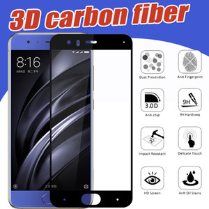 Carbon Fiber 3D Gehärtetem Glas Volldeckung 9H Proof Schutzfolie Film für Xiaomi Mi 8 SE 6 Plus 6X5 5C 5X5S Hinweis 3 Mix 2 S Max 2