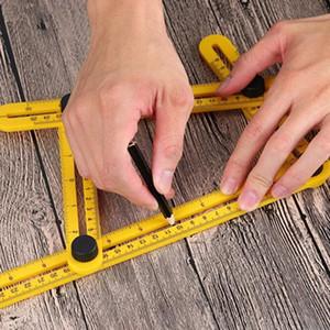 Измеритель угла Угол Измерительный инструмент Угловые Измерители инструментов Четырехсторонняя линейка Для мастеров-строителей Ремесленники Пластиковые складные линейки