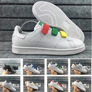 2018 Severler Stan Smith Erkekler Kadınlar Ayakkabı Klasik Ayakkabı Yüksek Kalite HOOk DÖNGÜ Toka Scarpe trafik ışığı Pembe Rahat Deri Spor Sneakers