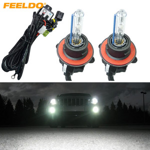 FEELDO 2x 35W Coche AC HID Bombillas Lámpara de faro de xenón H13 / 9008 Hi / Lo Bi-Xenon con mazo de cables # 2226