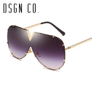DSGN CO. Envío Gratis Gafas de sol de la vendimia para hombres y mujeres sin rebordes clásica piloto de los vidrios de Sun de 8 colores UV400