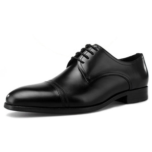 New Arrival Genuine Leather Men's Formal Dress Banquet Footwear Round Toe Lace-up Wedding Party Male Derby Shoes For Man