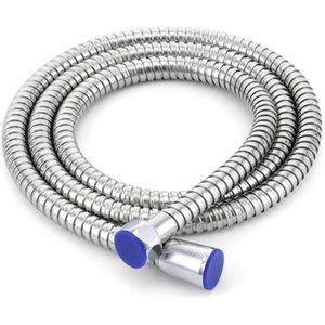 All'ingrosso 1 PC in acciaio inox 1,5 m tubo doccia flessibile soffione doccia tubo flessibile tubo dell'acqua colore argento finitura cromata