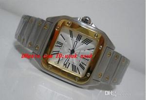 Reloj de pulsera de lujo Galbee XL de alta calidad automático para hombres, oro amarillo de 18 quilates, acero W20099C4, relojes para hombres