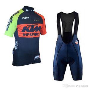 Radtrikot 2019 KTM Team Rennrad Bekleidung Atmungsaktiv Ropa ciclismo hombre Kurzarm Shirt Fahrrad Trägerhose Set Sportswear D2303