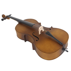 4 4 Full Size Acoustic Cello Musical Instruments with Case Bow Rosin Matte Golden for music lover