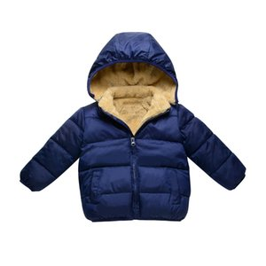 2017 autumn winter child jacket warm kid boy girl coats hooded outerwear solid color 2-6Y