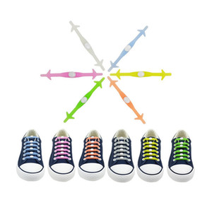 12Pcs set No Tie Luminous Silicone Shoelaces For Men Women Present Wholesale Party Gift Glow in the Dark