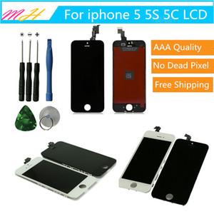 A++를 위한 LCD 디스플레이 iPhone5 5S5C 터치스크린 수치기 전체 어셈블리 교체 부분을 복구와 복구 도구를 무료배송