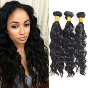 Best Selling Items Brasilianische Wasserwelle Bundles 100% Unverarbeitete Brasilianische Haarwebart Peruanische Indische Wasserwelle Indische Remy Haareinschlagfäden
