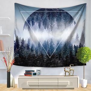 Indicador de Triângulo floresta Impressão Tapeçarias Tapestry Wall Art Tapeçaria Casa Decorativa Sala de estar Tapete de Praia de Poliéster Cobertor