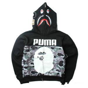 Top Design APE Camo Jackets Shark Head Print Sudadera de los hombres de alta calidad Casual Outdoor Hoodies de los hombres Envío Gratis