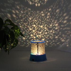 LED-Nachtlicht Elektronik-Projektor Sternenhimmel Stern Mond Meister-Kind-Kind-Baby-Schlaf Romantische bunte LED USB-Projektionslampe