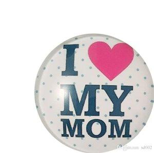 Portable Glass Refrigerator Sticker Home Decoration Novela Diseño I Love Mom Imán de Nevera Madres Day Gift Light 5nx cc
