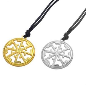 Kolovrat Esclave Znic Alliage Pendentif Solstice Corde Amulette Collier Ethnique Religieux Slave Colliers Drop Shipping
