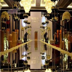1.2 متر × 10 متر / لفة الأزياء الفضة مرآة السجاد الممر عداء ل حفل زفاف خلفية الديكور الإمدادات 2018 رخيصة