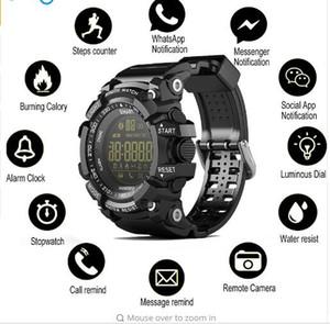 Bluetooth Saat EX16 Akıllı İzle Bildirim Uzaktan Kumanda Adımsayar Spor BİLEZİK IP67 Su geçirmez Erkek Veya Kadın Kol