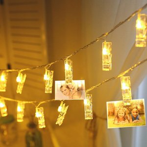 1M 10Leds 2M 20Leds Photo Clip LED Fairy Lamp String Light Battery Powered Garland Holiday Party Wedding Christmas Decor Lights