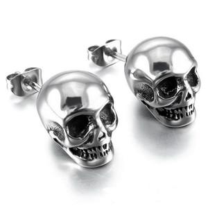 Skull Head New Fashion Donna Uomo Orecchini Orecchini scheletro creativo unisex Trend gioielli orecchini, una coppia