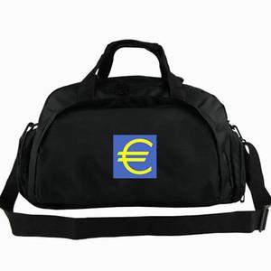 Euro borsone borsa europea segno di denaro tote Rich logo zaino borsone per il tempo libero borsone da spalla sportivo Imbracatura da viaggio
