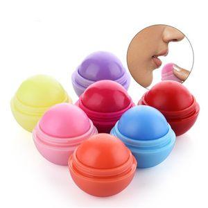 Round Ball Smooth Lip Balm Frucht-Bonbon-Aroma-organisches Lippenstift-Feuchtigkeitscreme-nahrhaftes hydratisierendes Chapstick-Bereich-Lippenmake-up