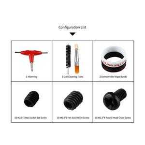 Kit de cuidado de Demon Killer Herramientas de limpieza de bobina de llave Allen Bandas de vape Tornillo de fijación hexagonal Tornillo de cabeza redonda Accesorios de tornillo cruzado para Vape