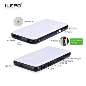 O melhor presente LED mini-portátil Vídeo Pico Micro Pequenas Mini Projector Android 7.1 LED Mini Projector Home Cinema AV TV VGA HDMI