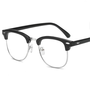 Vintage Finished myopia glasses Women Men Reading Eyeglasses Myopia Half Frame HD Lens Prescription Len Eye glasses