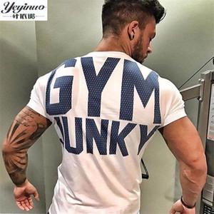Marca Mens T Shirt Verão Crossfit Camisas de Fitness Para Homens Moda Musculação Roupas de Manga Curta de Algodão T Topos