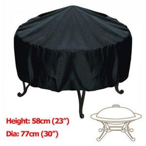76 * 58 cm BBQ Grill Patio Cover Negro Plata Impermeable Jardín Lluvia Anti Polvo A Prueba de Barbacoa Party Shield Grill Protector
