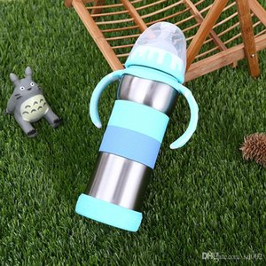Детская мода вакуумная чашка с ручкой из нержавеющей стали мультфильм симпатичные бутылки с водой герметичность студент чайник для открытый носить 27lc КК
