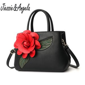 JiessieAngela Moda Big Flower Handbag Alta Qualidade Feminino Bolsa de Ombro Ocasional Das Mulheres Tote Bags Lady mensageiro saco bolsos