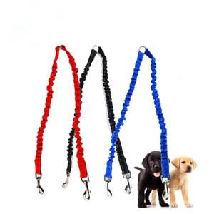 Accoppiatore per cani da compagnia Bungee guinzaglio a due passi di piombo elastico Due cani al guinzaglio Splitter spedizione veloce